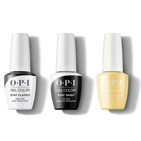 OPI - GelColor Combo - Stay Classic Base, Shiny Top & Never a Dulles Moment-Beyond Polish
