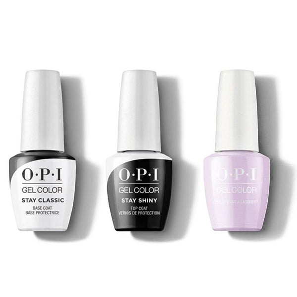 OPI - GelColor Combo - Stay Classic Base, Shiny Top & Polly Want a Lacquer?-Beyond Polish