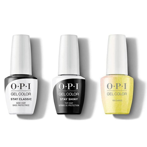 OPI - GelColor Combo - Stay Classic Base, Shiny Top & Ray-diance-Beyond Polish