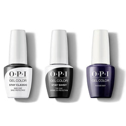 OPI - GelColor Combo - Stay Classic Base, Shiny Top & Russian Navy-Beyond Polish