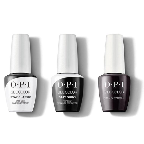 OPI - GelColor Combo - Stay Classic Base, Shiny Top & Shh...It's Top Secret!-Beyond Polish