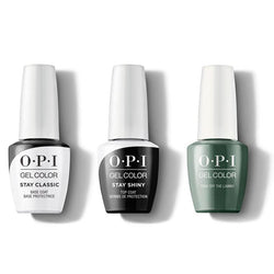OPI - GelColor Combo - Stay Classic Base, Shiny Top & Stay Off the Lawn!!-Beyond Polish