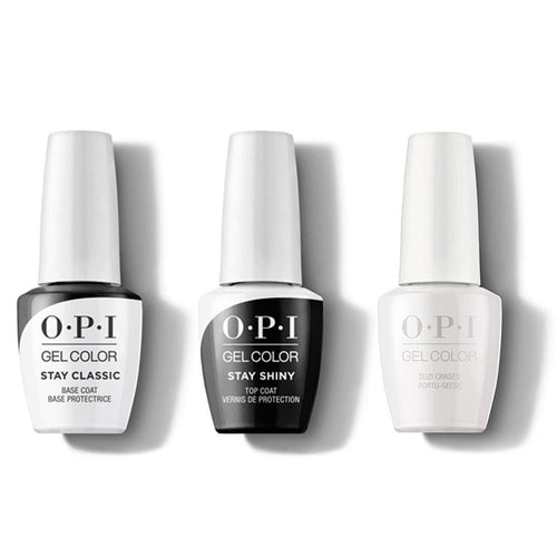 OPI - GelColor Combo - Stay Classic Base, Shiny Top & Suzi Chases Portu-geese-Beyond Polish