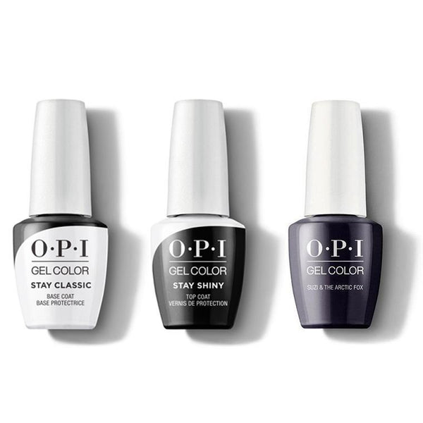 OPI - GelColor Combo - Stay Classic Base, Shiny Top & Suzi & the Arctic Fox-Beyond Polish