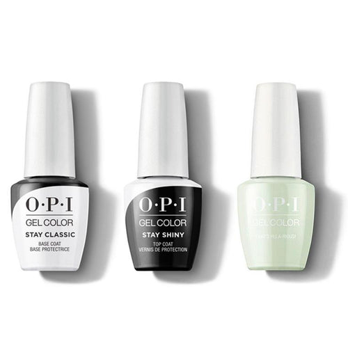 OPI - GelColor Combo - Stay Classic Base, Shiny Top & Thats Hula-rious!-Beyond Polish