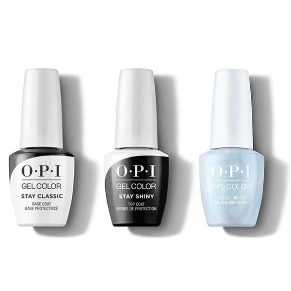 OPI - GelColor Combo - Stay Classic Base, Shiny Top & This Color Hits All The High Notes-Beyond Polish