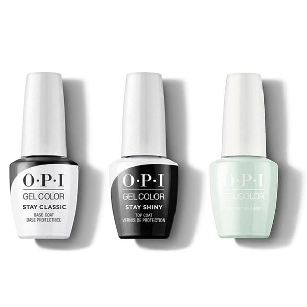 OPI - GelColor Combo - Stay Classic Base, Shiny Top & This Cost Me A Mint-Beyond Polish