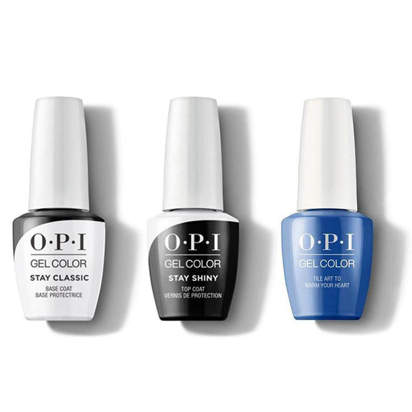 OPI - GelColor Combo - Stay Classic Base, Shiny Top & Tile Art to Warm Your Heart-Beyond Polish