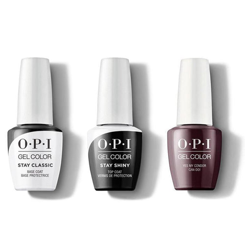 OPI - GelColor Combo - Stay Classic Base, Shiny Top & Yes My Condor Can-do!-Beyond Polish