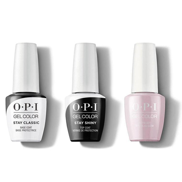 OPI - GelColor Combo - Stay Classic Base, Shiny Top & You've Got That Glas-glow-Beyond Polish