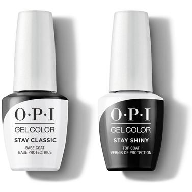 OPI GelColor - Stay Classic Base & Stay Shiny Top Coat 0.5 oz-Beyond Polish