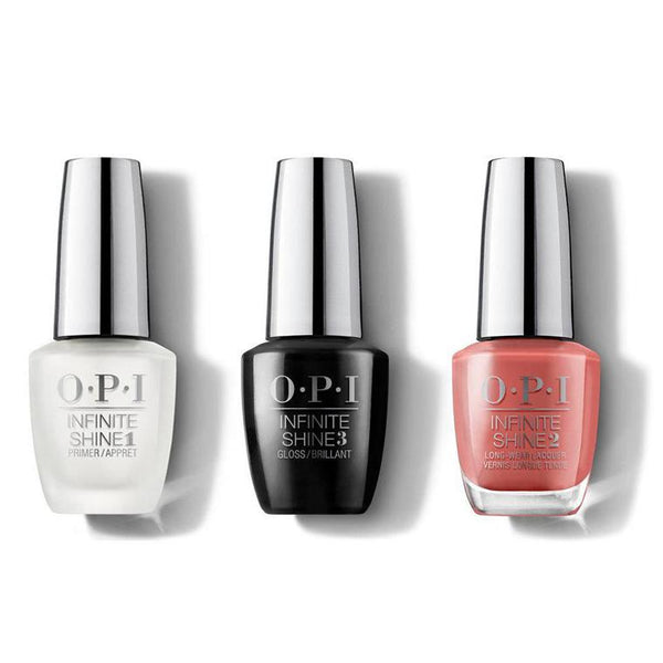 OPI - Infinite Shine Combo - Base, Top & My Solar Clock is Ticking 0.5 oz - #ISLP38-Beyond Polish