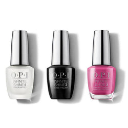 OPI - Infinite Shine Combo - Base, Top & No Turning Back From Pink Street 0.5 oz - #ISLL19-Beyond Polish
