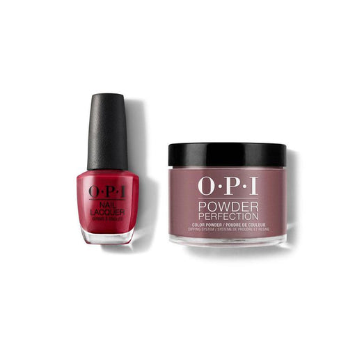 OPI - Lacquer & Dip Combo - Chick Flick Cherry-Beyond Polish