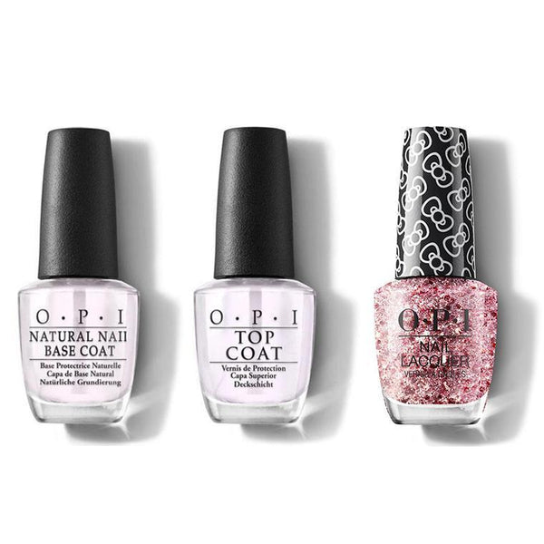 OPI - Nail Lacquer Combo - Base, Top & Born To Sparkle 0.5 oz - #HRL13-Beyond Polish
