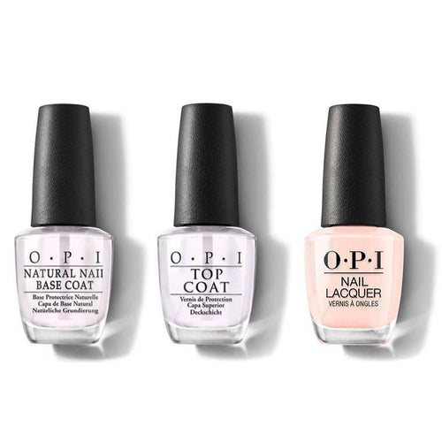 OPI - Nail Lacquer Combo - Base, Top & Bubble Bath 0.5 oz - #NLS86-Beyond Polish