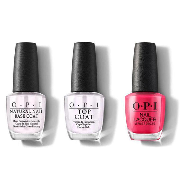 OPI - Nail Lacquer Combo - Base, Top & Charged Up Cherry 0.5 oz - #NLB35-Beyond Polish