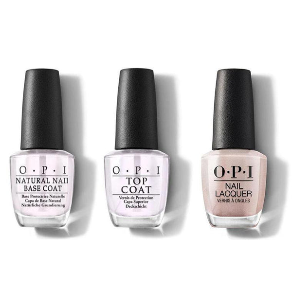 OPI - Nail Lacquer Combo - Base, Top & Chiffon-d of You 0.5 oz - #NLSH3-Beyond Polish