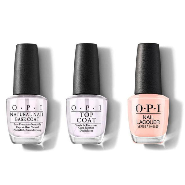 OPI - Nail Lacquer Combo - Base, Top & Coney Island Cotton Candy 0.5 oz - #NLL12-Beyond Polish