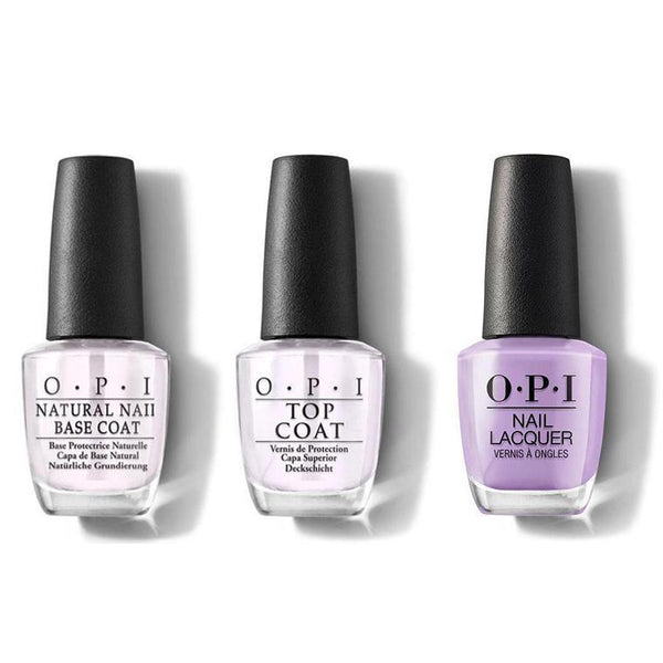 OPI - Nail Lacquer Combo - Base, Top & Don't Toot My Flute 0.5 oz - #NLP34-Beyond Polish