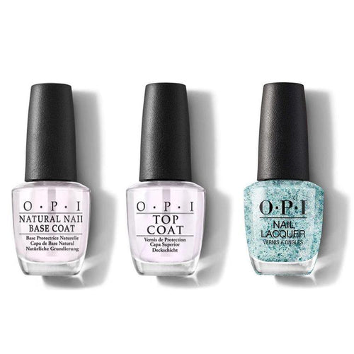 OPI - Nail Lacquer Combo - Base, Top & Ecstatic Prismatic 0.5 oz - #NLC78-Beyond Polish
