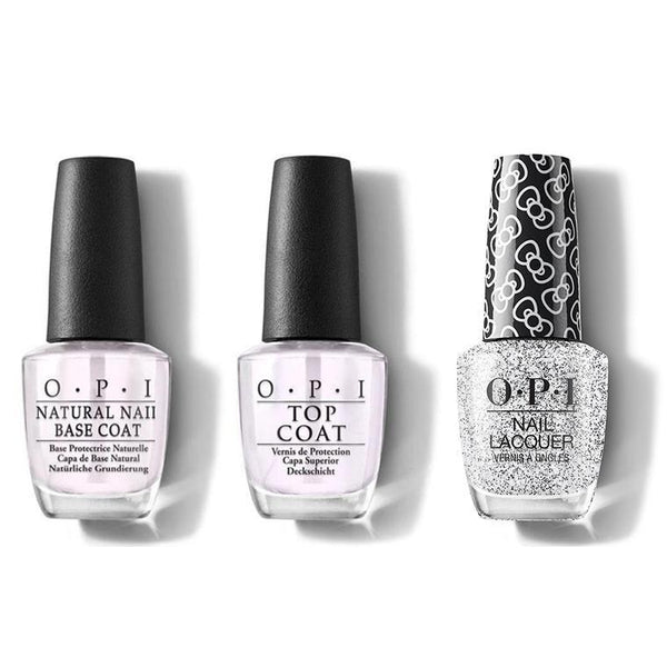 OPI - Nail Lacquer Combo - Base, Top & Glitter To My Heart 0.5 oz - #HRL01-Beyond Polish