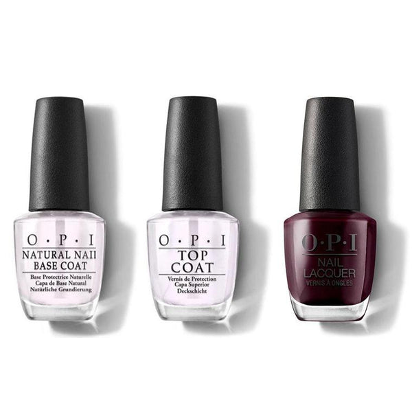 OPI - Nail Lacquer Combo - Base, Top & In the Cable Car-Pool Lane 0.5 oz - #NLF62-Beyond Polish