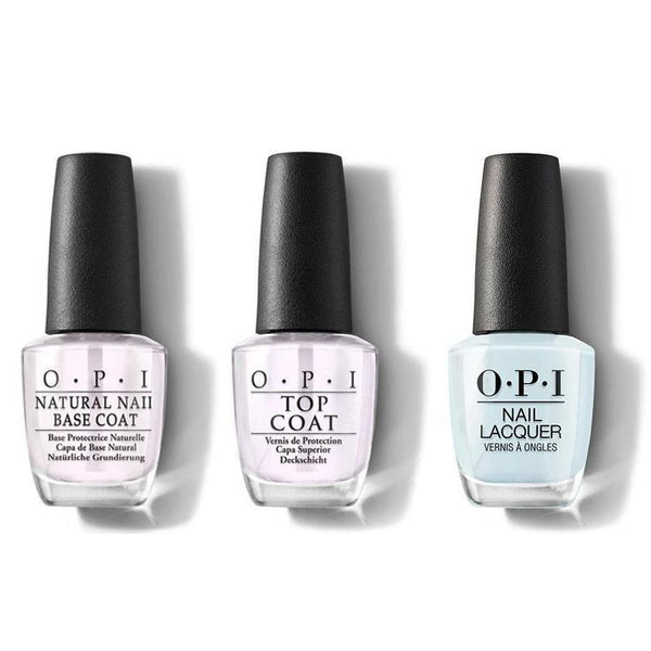 OPI - Nail Lacquer Combo - Base, Top & It's A Boy! 0.5 oz - #NLT75-Beyond Polish