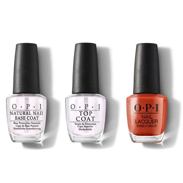 OPI - Nail Lacquer Combo - Base, Top & It's a Piazza Cake 0.5 oz - #NLV26-Beyond Polish