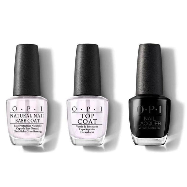 OPI - Nail Lacquer Combo - Base, Top & Leather Grease Is The Word 0.5 oz - #NLG55-Beyond Polish