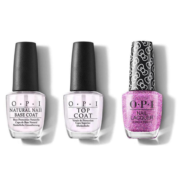 OPI - Nail Lacquer Combo - Base, Top & Let's Celebrate! 0.5 oz - #HRL03-Beyond Polish