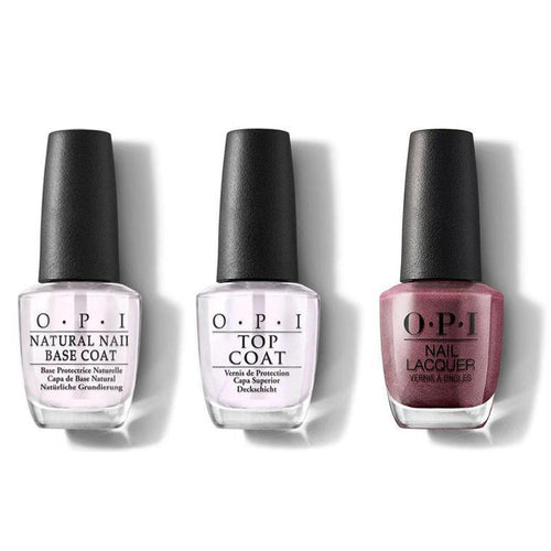 OPI - Nail Lacquer Combo - Base, Top & Meet Me on the Star Ferry 0.5 oz - #NLH49-Beyond Polish