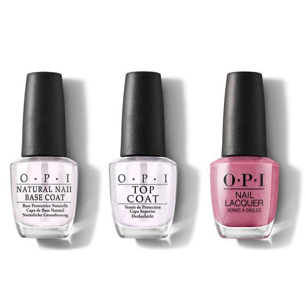 OPI - Nail Lacquer Combo - Base, Top & Not So Bora-Bora-ing Pink 0.5 oz - #NLS45-Beyond Polish