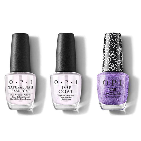 OPI - Nail Lacquer Combo - Base, Top & Pile On The Sprinkles 0.5 oz - #HRL06-Beyond Polish
