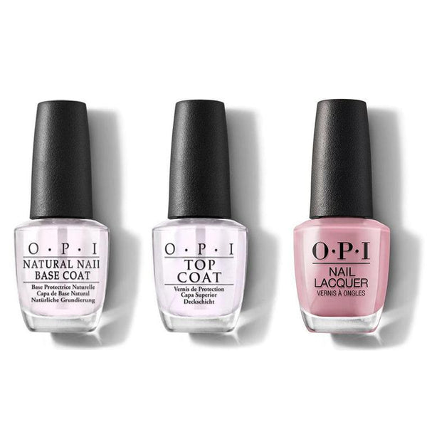 OPI - Nail Lacquer Combo - Base, Top & Rice Rice Baby 0.5 oz - #NLT80-Beyond Polish