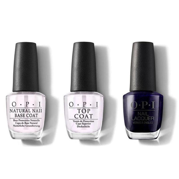 OPI - Nail Lacquer Combo - Base, Top & Russian Navy 0.5 oz - #NLR54-Beyond Polish