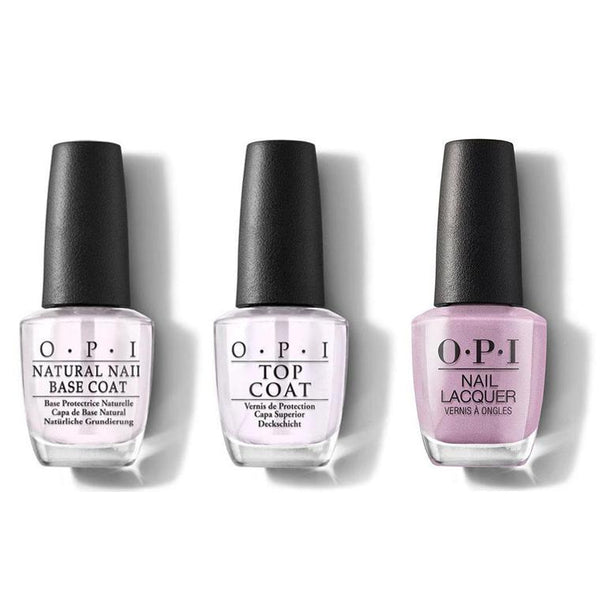 OPI - Nail Lacquer Combo - Base, Top & Shellmates Forever! 0.5 oz - #NLE96-Beyond Polish