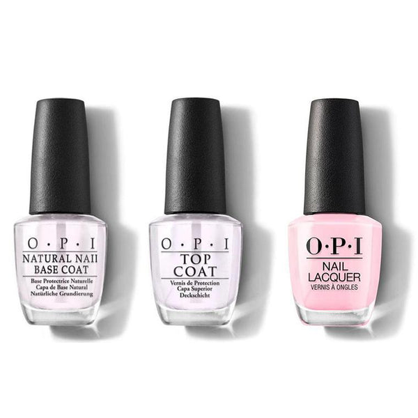 OPI - Nail Lacquer Combo - Base, Top & Suzi Shops & Island Hops 0.5 oz - #NLH71-Beyond Polish