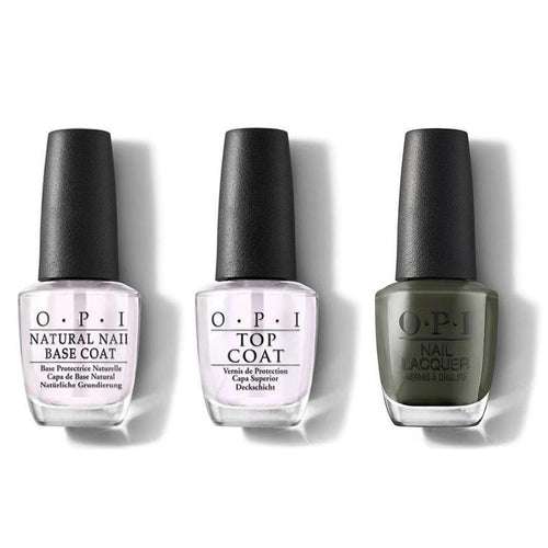 OPI - Nail Lacquer Combo - Base, Top & Things I've Seen In Aber-green 0.5 oz - #NLU15-Beyond Polish