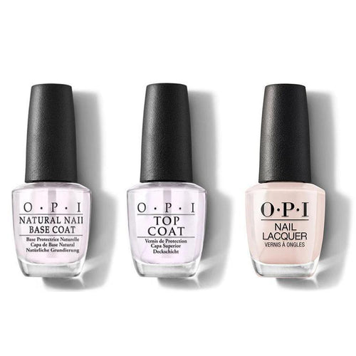 OPI - Nail Lacquer Combo - Base, Top & Tiramisu for Two 0.5 oz - #NLV28-Beyond Polish