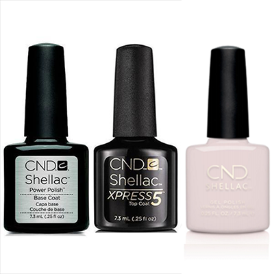 CND - Shellac Xpress5 Combo - Base, Top & Mover & Shaker (0.25 oz)