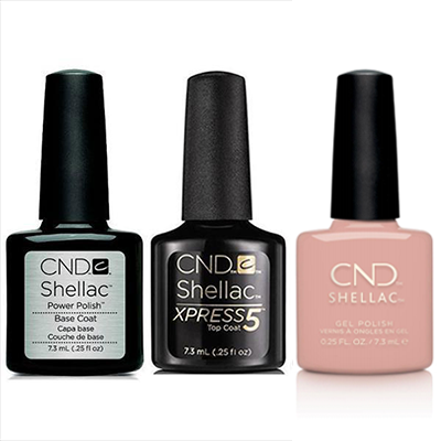 CND - Shellac Xpress5 Combo - Base, Top & Self-Lover (0.25 oz)