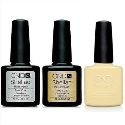 CND - Shellac Combo - Base, Top & Smile Maker