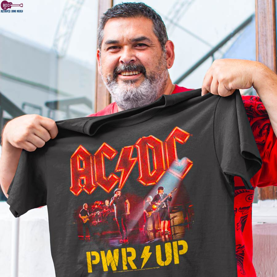 AC DC T-Shirt, PWRUP, Happy Customer