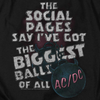 AC/DC Impressive Long Sleeve T-Shirt, Big Balls
