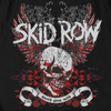 SKID ROW Impressive Long Sleeve T-Shirt, Skull With Wings