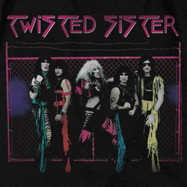 Premium TWISTED SISTER Hoodie, Neon Band Photo