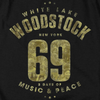 WOODSTOCK Impressive T-Shirt, White Lake Logo '69