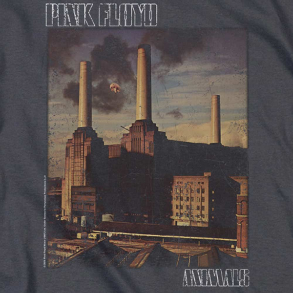 PINK FLOYD Deluxe Sweatshirt, Distressed Animals Cover