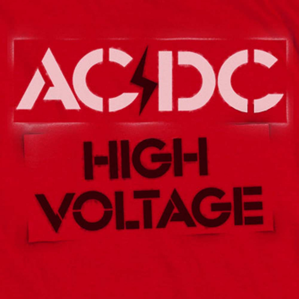 AC/DC Impressive T-Shirt, Stencil High Voltage